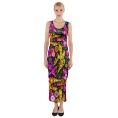 Midnight Dancers Fitted Maxi Dress