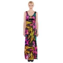 Midnight Dancers Maxi Thigh Split Dress