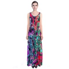 Bubble Chaos Sleeveless Maxi Dress