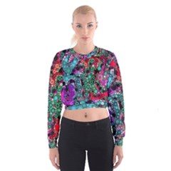 Bubble Chaos Women s Cropped Sweatshirt