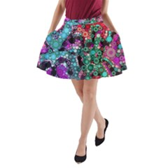 Bubble Chaos A Line Pocket Skirt
