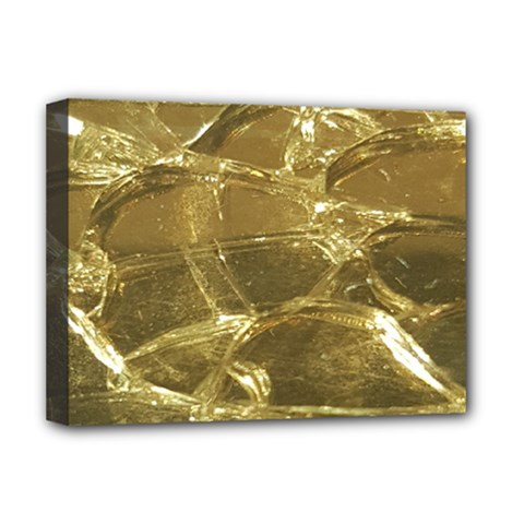 Gold Bar Golden Chic Festive Sparkling Gold  Deluxe Canvas 16  x 12