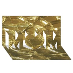 Gold Bar Golden Chic Festive Sparkling Gold  Mom 3d Greeting Card (8x4)