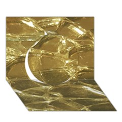 Gold Bar Golden Chic Festive Sparkling Gold  Circle 3d Greeting Card (7x5)