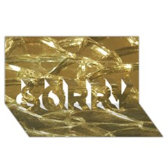 Gold Bar Golden Chic Festive Sparkling Gold  Sorry 3d Greeting Card (8x4)