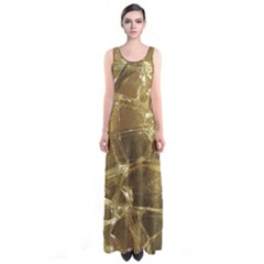 Gold Bar Golden Chic Festive Sparkling Gold  Sleeveless Maxi Dress