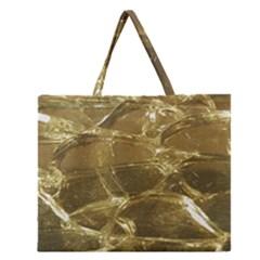 Gold Bar Golden Chic Festive Sparkling Gold  Zipper Large Tote Bag
