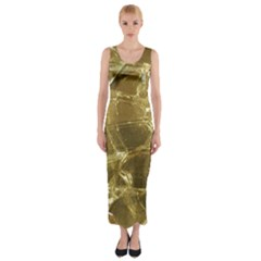 Gold Bar Golden Chic Festive Sparkling Gold  Fitted Maxi Dress
