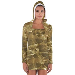 Gold Bar Golden Chic Festive Sparkling Gold  Women s Long Sleeve Hooded T-shirt