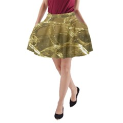 Gold Bar Golden Chic Festive Sparkling Gold  A-Line Pocket Skirt