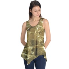 Gold Bar Golden Chic Festive Sparkling Gold  Sleeveless Tunic