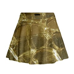 Gold Bar Golden Chic Festive Sparkling Gold  Mini Flare Skirt