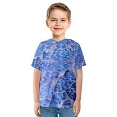 Festive Chic Light Blue Glitter Shiny Glamour Sparkles Kid s Sport Mesh Tee