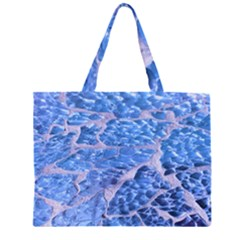 Festive Chic Light Blue Glitter Shiny Glamour Sparkles Large Tote Bag