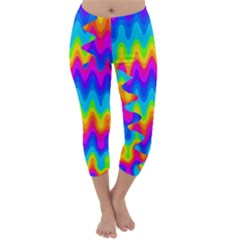 Amazing Acid Rainbow Capri Winter Leggings