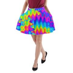 Amazing Acid Rainbow A-Line Pocket Skirt