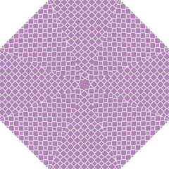 Lilac Purple Quatrefoil Pattern Hook Handle Umbrella (medium)