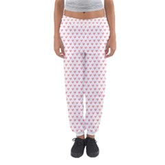 Soft Pink Small Hearts Pattern Women s Jogger Sweatpants