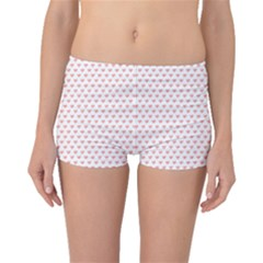 Soft Pink Small Hearts Pattern Boyleg Bikini Bottoms