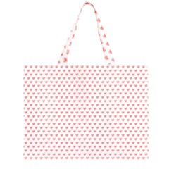 Soft Pink Small Hearts Pattern Large Tote Bag