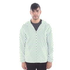 Spring Green Small Hearts Pattern Hooded Wind Breaker (men)