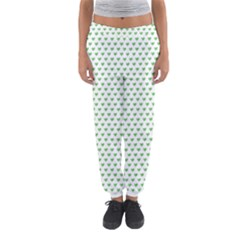 Spring Green Small Hearts Pattern Women s Jogger Sweatpants