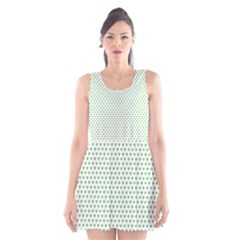Spring Green Small Hearts Pattern Scoop Neck Skater Dress