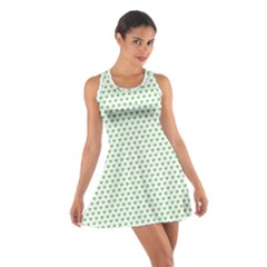 Spring Green Small Hearts Pattern Racerback Dresses