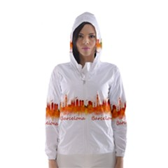Barcelona City Art Hooded Wind Breaker (women)