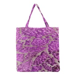 Festive Chic Pink Glitter Stone Grocery Tote Bag
