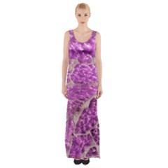 Festive Chic Pink Glitter Stone Maxi Thigh Split Dress