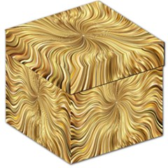 Chic Festive Elegant Gold Stripes Storage Stool 12