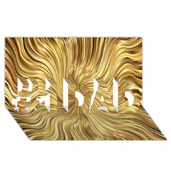 Chic Festive Elegant Gold Stripes #1 Dad 3d Greeting Card (8x4)