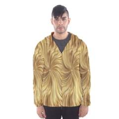 Chic Festive Elegant Gold Stripes Hooded Wind Breaker (Men)