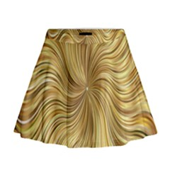 Chic Festive Elegant Gold Stripes Mini Flare Skirt