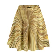 Chic Festive Elegant Gold Stripes High Waist Skirt