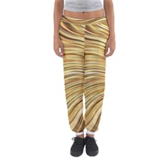 Chic Festive Gold Brown Glitter Stripes Women s Jogger Sweatpants