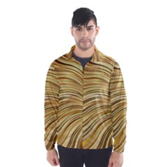 Chic Festive Gold Brown Glitter Stripes Wind Breaker (men)