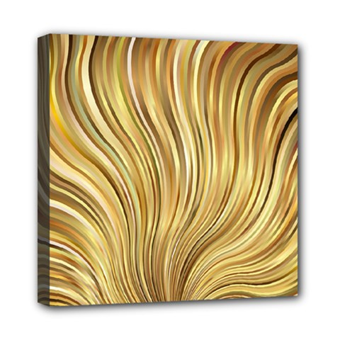 Gold Stripes Festive Flowing Flame  Mini Canvas 8  x 8