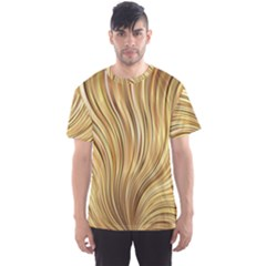 Gold Stripes Festive Flowing Flame  Men s Sport Mesh Tee