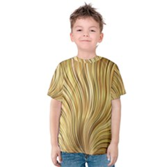 Gold Stripes Festive Flowing Flame  Kid s Cotton Tee
