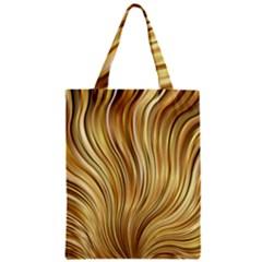 Gold Stripes Festive Flowing Flame  Zipper Classic Tote Bag