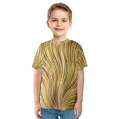 Gold Stripes Festive Flowing Flame  Kid s Sport Mesh Tee