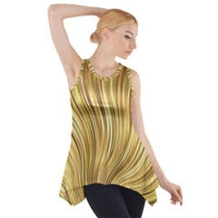Gold Stripes Festive Flowing Flame  Side Drop Tank Tunic