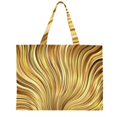 Gold Stripes Festive Flowing Flame  Large Tote Bag