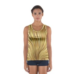 Gold Stripes Festive Flowing Flame  Tops