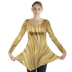 Gold Stripes Festive Flowing Flame  Long Sleeve Tunic