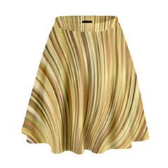 Gold Stripes Festive Flowing Flame  High Waist Skirt