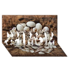 Tropical Sea Shells Collection, Copper Background #1 MOM 3D Greeting Cards (8x4)