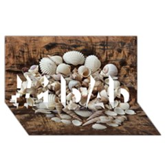 Tropical Sea Shells Collection, Copper Background #1 DAD 3D Greeting Card (8x4)